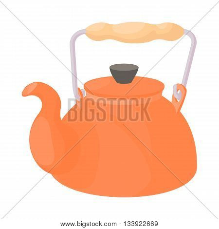 Kettle icon in cartoon style on a white background