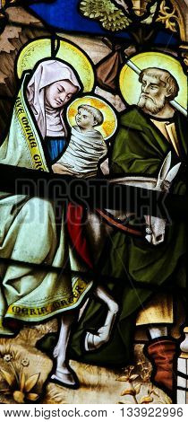 Stained Glass - The Flight To Egypt