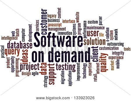 Software On Demand, Word Cloud Concept 8