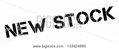 New Stock Black Rubber Stamp On White