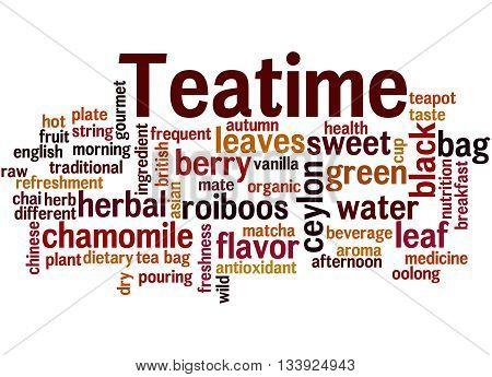 Teatime, Word Cloud Concept 8