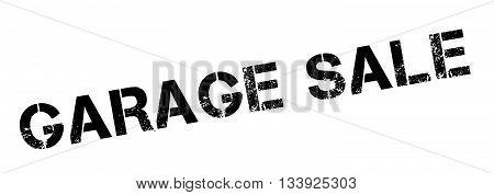 Garage Sale Black Rubber Stamp On White