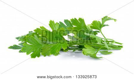 Parsley isolated on white backgroundpice; aromatic; fragrant; natural