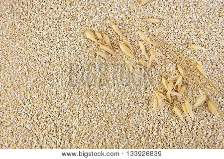 Texture of small oat bran with oat stem
