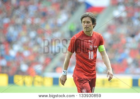 PRAGUE 05/06/2015 _ Tomas Rosicky, capitain of Czech Republic team. Friendly match Czech Reublic - South Korea