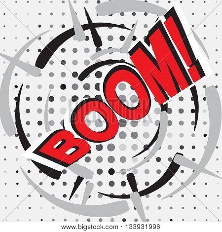 BOOM! Comic speech bubble cartoon trendy illustration