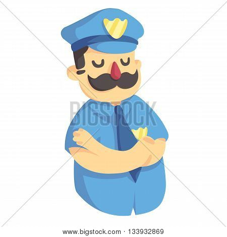 man police cop in the form with badge