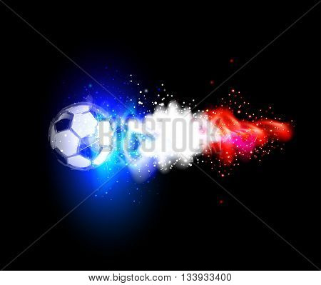 soccer light abstract france with france flags