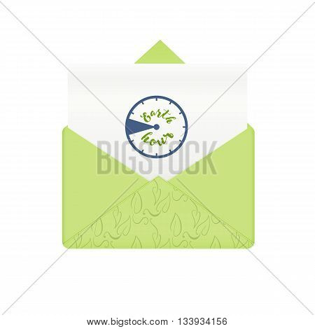 Concept earth hour. Earth or planet, hour global green, vector illustration