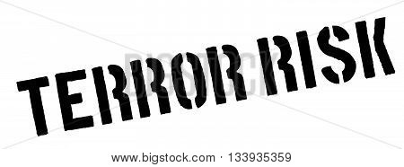 Terror Risk Black Rubber Stamp On White