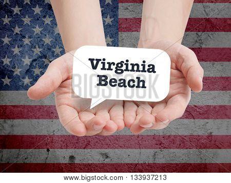 Virginia Beach written in a speechbubble
