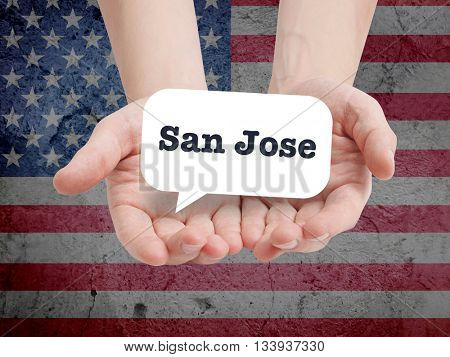 San Jose written in a speechbubble