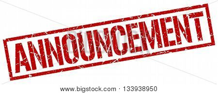 Announcement Stamp. Vector. Stamp. Sign. Announcement. Red.