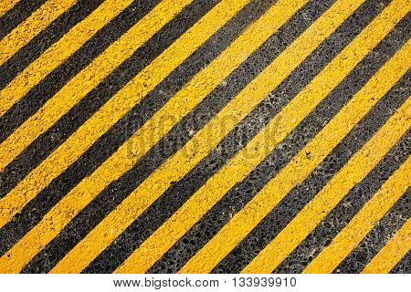 Yellow line on the road do not parking here