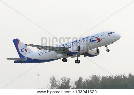 Airbus A320 Ural Airlines Take Off