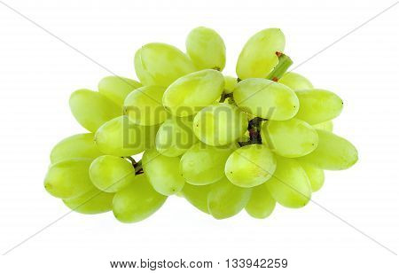 Fresh green grapes isolated on a white backgroundte