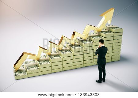 Financial Growth With Businessman