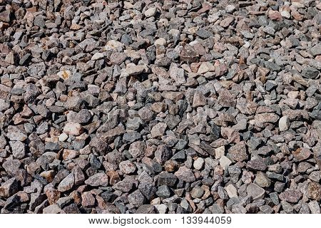Construction materials. Crushed stone granite crushed gray color