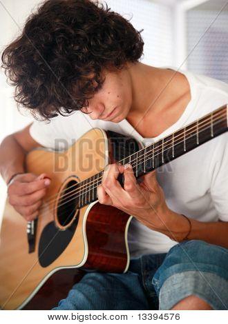 Teenage Musician Closeup