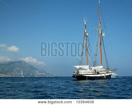 Luxury two mast sailboat