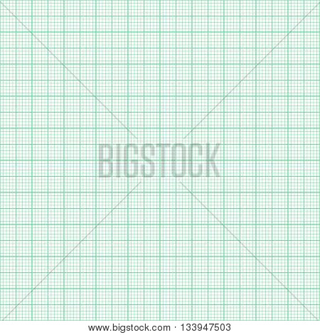 Grean millimeter paper vector ima ge seamless background