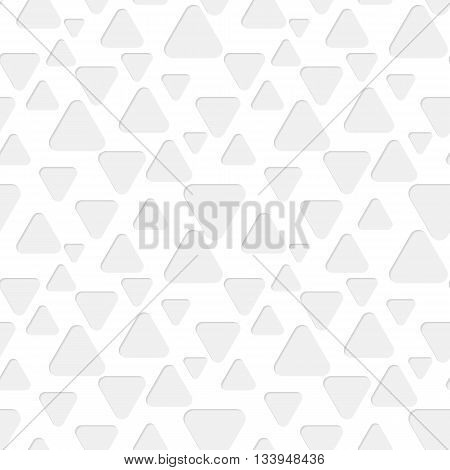 Seamless paper pattern with gray triangles on white background