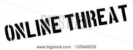 Online Threat Black Rubber Stamp On White