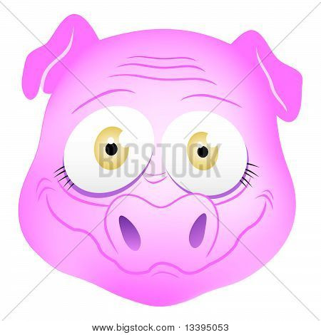Pig Mask cartoon illustration