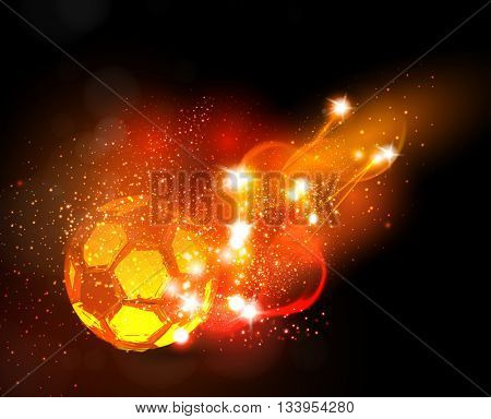 Soccer ball light banner easy all editable