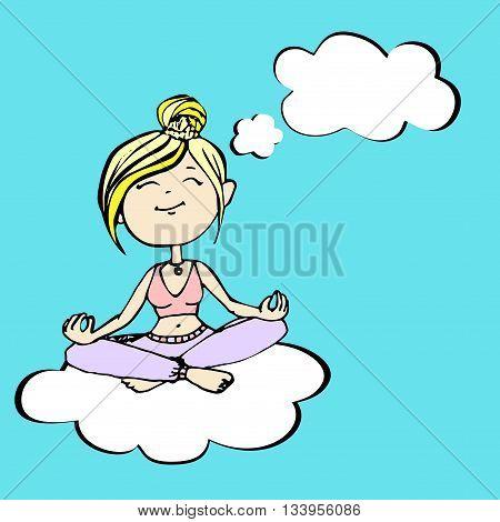 Yogi thinks a girl sitting on a cloud
