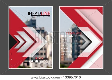 A4 size, abstract flat layout futuristic arrow elements marketing business corporate design template. eps10 vector