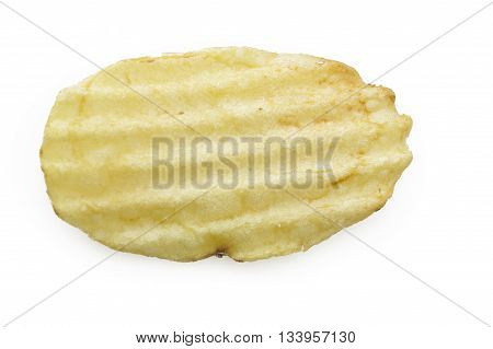chips close up on a white background
