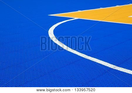 line and colorful pattern on PVC basketball court