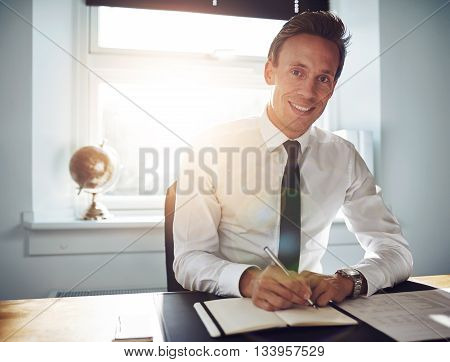Business Man Executive Writing Notes