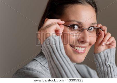 Designer Glasses - Successful Architect Woman