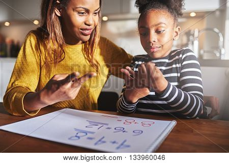 Excited Child Learning To Calculate