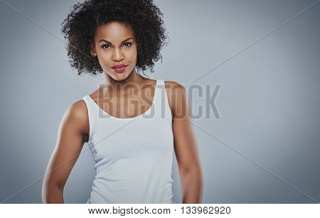 Tough Beautiful Young Black Woman
