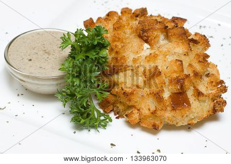 Very Tasty Kiev cutlets on white plate