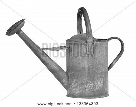 Old Metal Watering Can With Nozzle