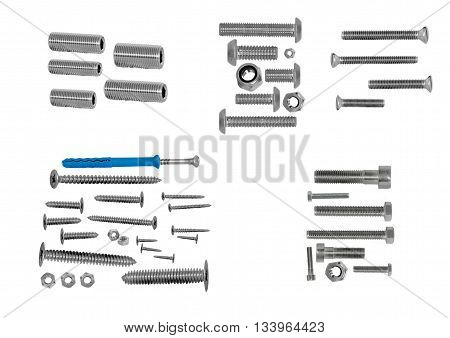 Various Size Nuts Bolts And Screws