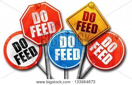 do feed, 3D rendering, street signs, 3D rendering, street signs