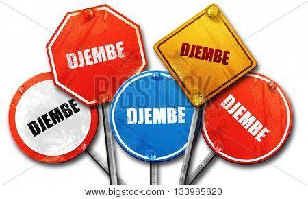 djembe, 3D rendering, street signs, 3D rendering, street signs