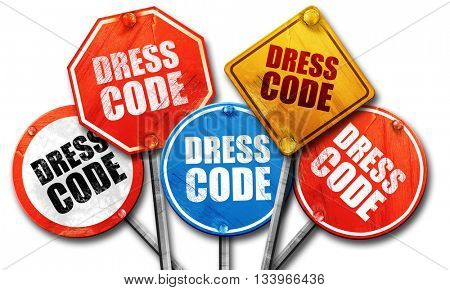 dress code, 3D rendering, street signs