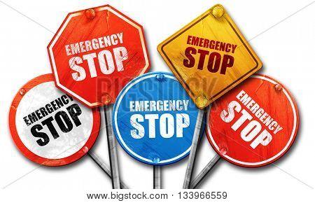 emergency stop, 3D rendering, street signs