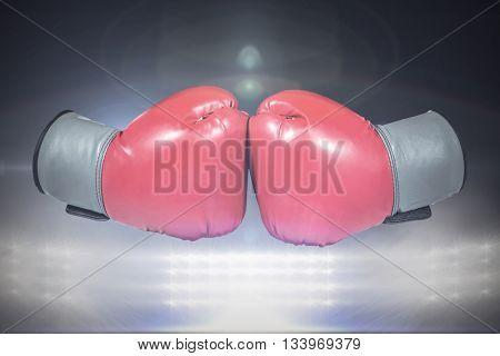 boxing gloves touch eachother