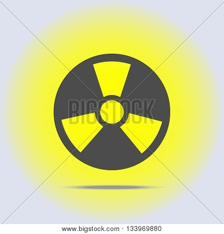 Radioactive icon in gray colors. Vector illustration