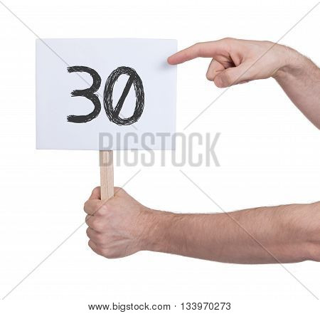 Sign With A Number, 30
