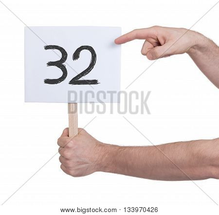 Sign With A Number, 32