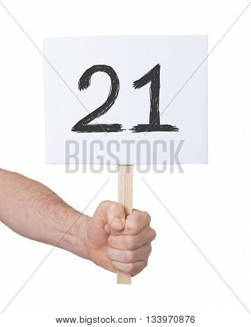Sign With A Number, 21