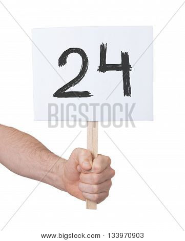 Sign With A Number, 24